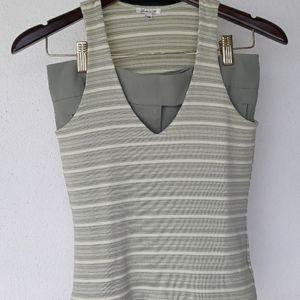 Sage green tank top and matching skirt set